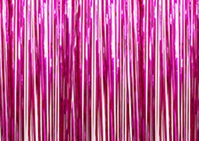 Cerise mylar curtain