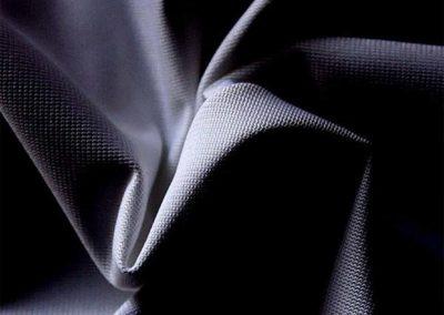 black pipe and drape fabric