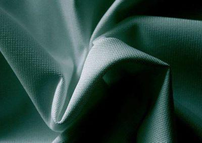 hunter green pipe and drape fabric