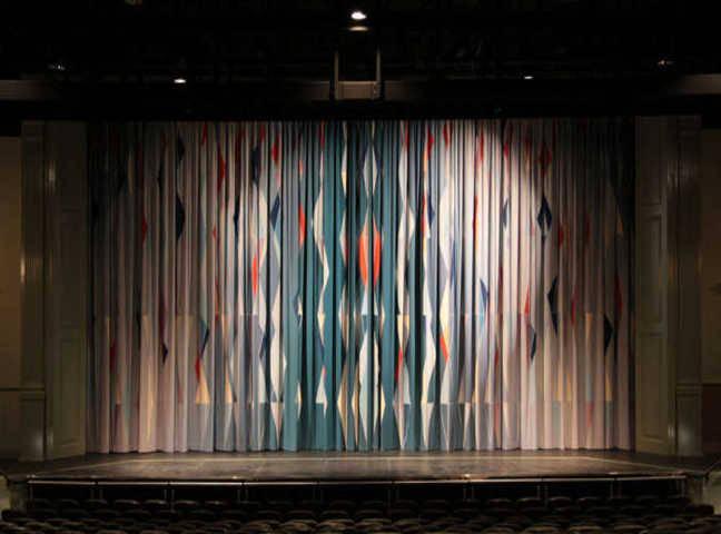 north carolina cary arts center drapery curtains fabric sewing