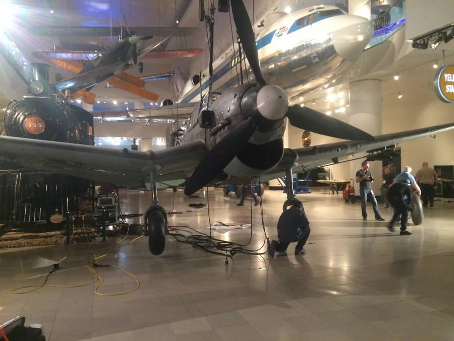 landing a stuka plane rigging artifact museum
