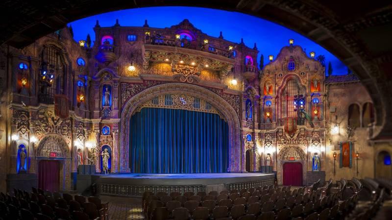 tampa theatre renovation drapery